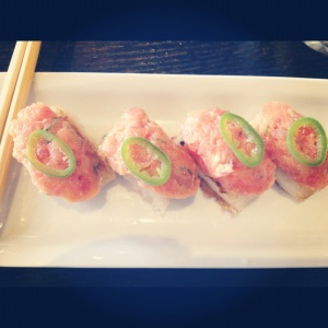 Crispy Rice Spicy tuna. One of my all time faces