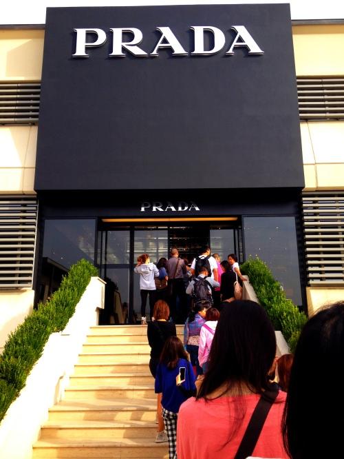 The line into Prada