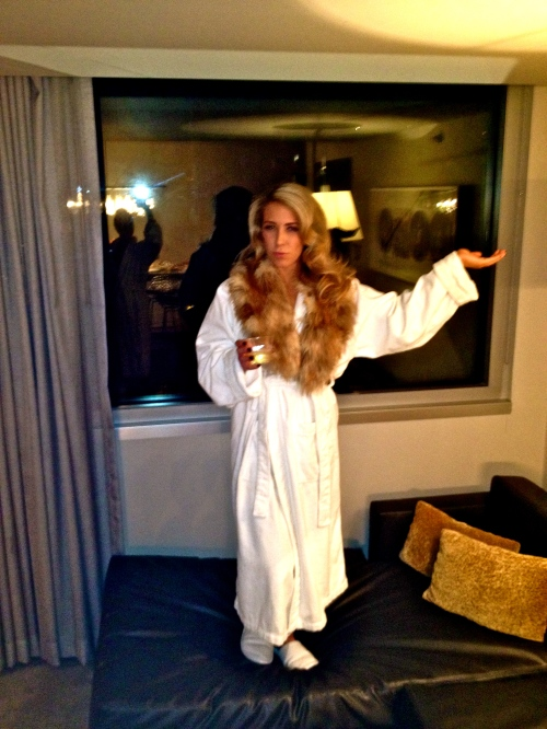 Suite life. The fur gave me a new persona.