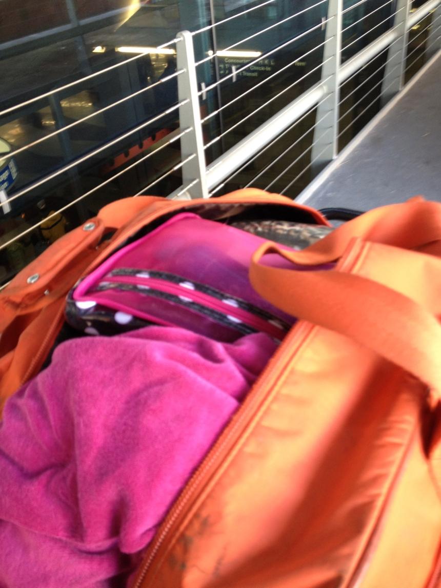 RIP orange suitcase.2008-2012