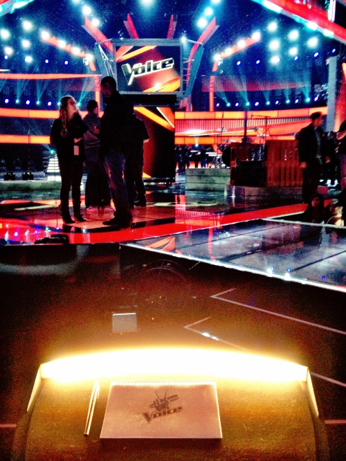View from Shakira's chair