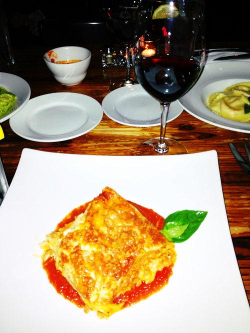 The rare lasagna from Osteria Mamma I had on friday evening.