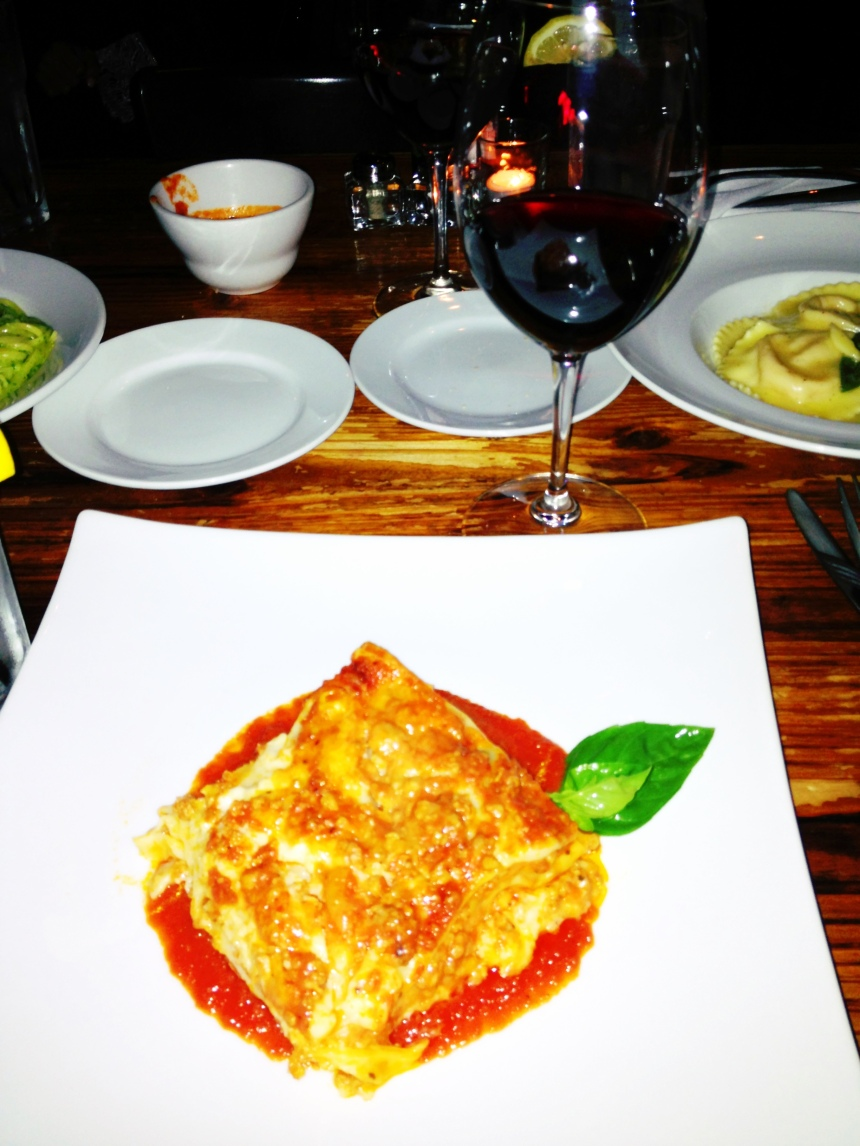 The rare lasagna from Osteria Mamma I had on friday evening.