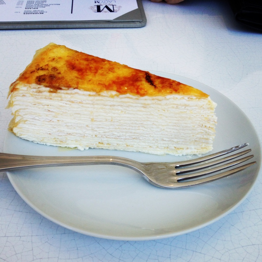 Crepe cake. Pure heaven... and it's chilled.