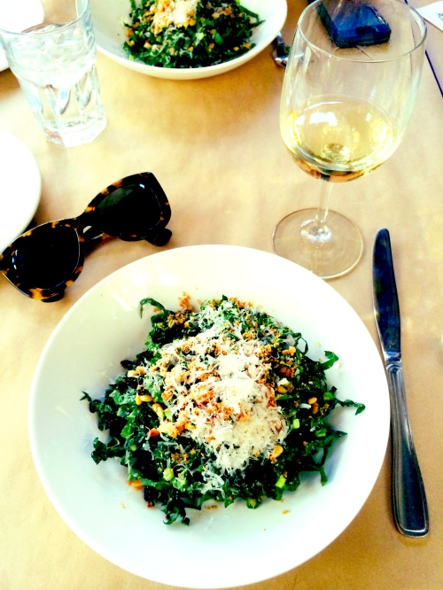 Kale salad from Cliff's edge