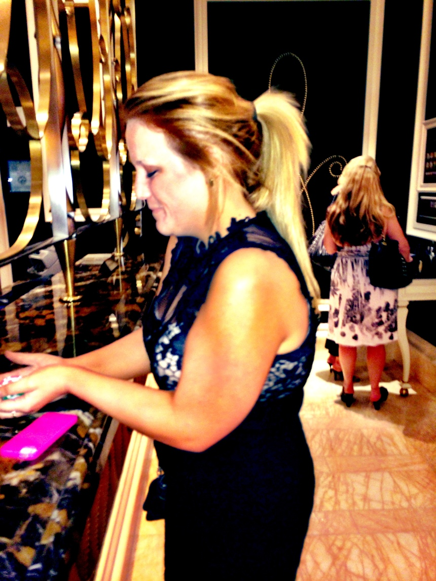 Katie cashing in