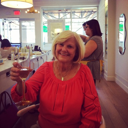 I promised my aunt Joannie a day at the Drybar. She was ecstatic.